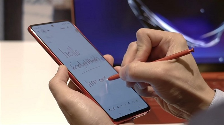 bút S-Pen trên Samsung Galaxy Note 10 Lite
