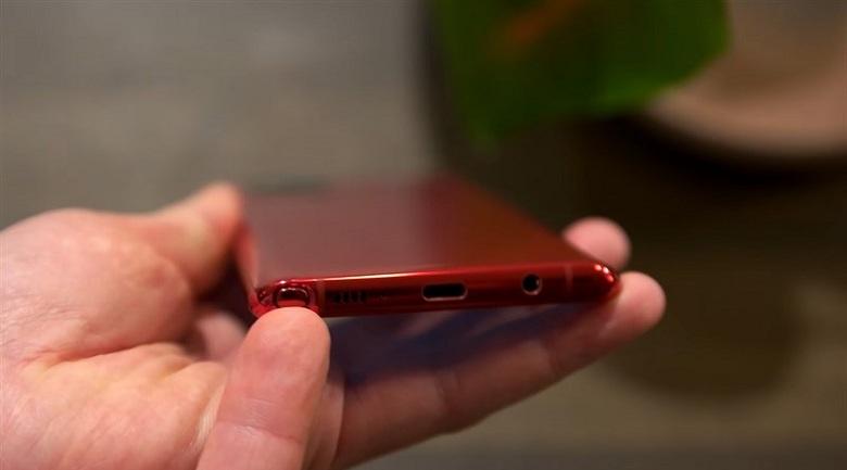 cạnh dưới Samsung Note 10 Lite