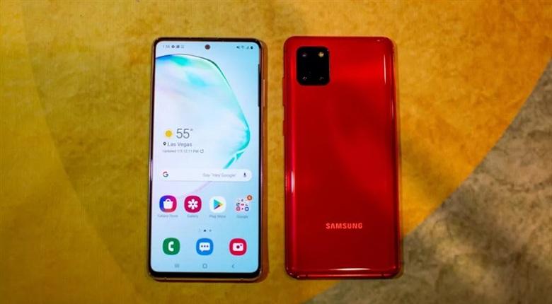 Thiết kế Samsung Galaxy Note 10 Lite