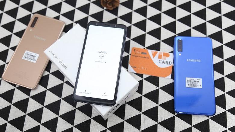 Màn hình của Samsung Galaxy A7 2018 có kích thước 6.0 inch
