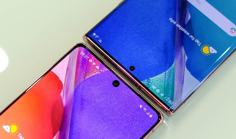hiển thị của Samsung Note 20