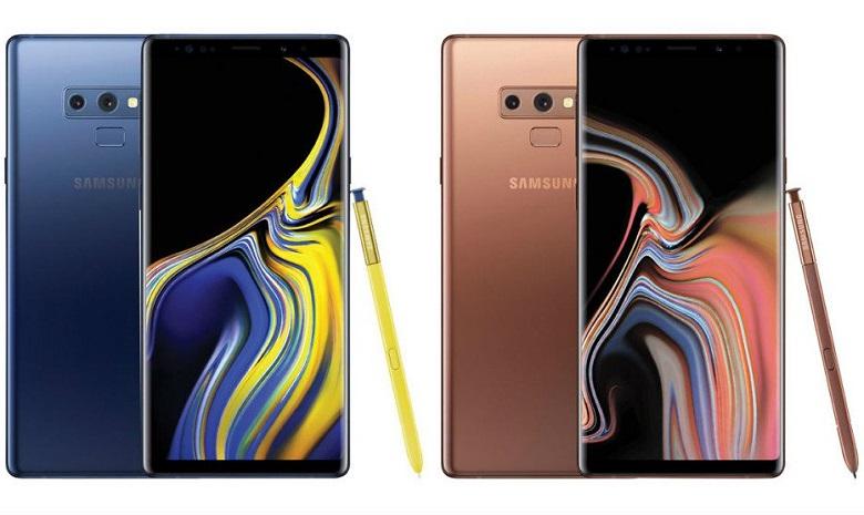 Samsung Galaxy Note 9 nhiều phiên bản màu