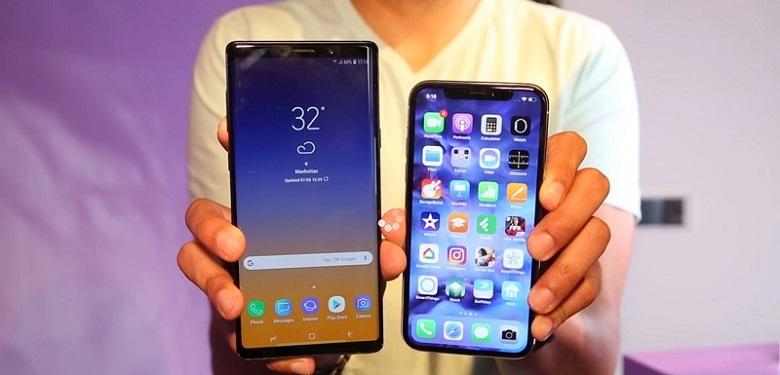 So sánh thiết kế Samsung Galaxy Note 9 và iPhone X