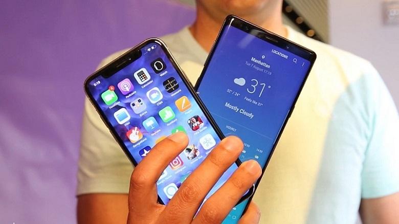So sánh hiệu năng Samsung Galaxy Note 9 và iPhone X