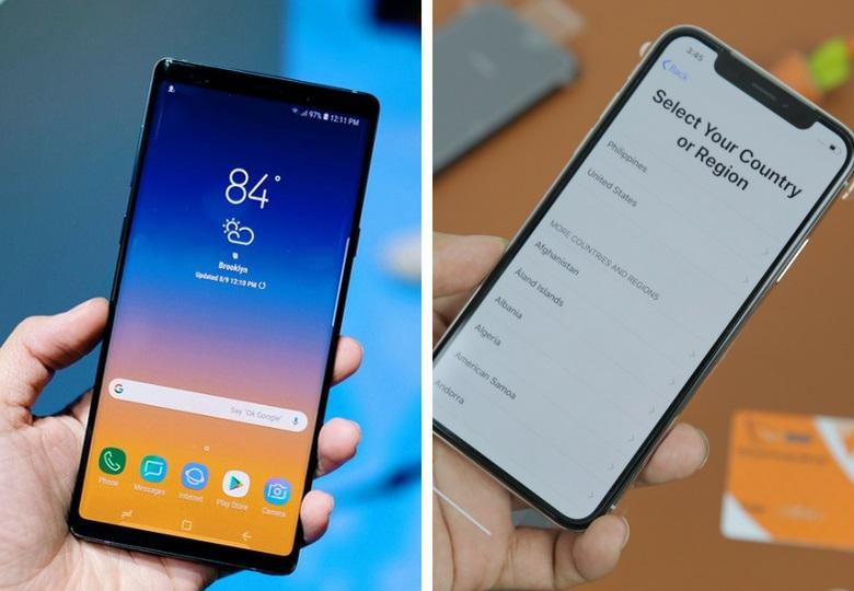 so sánh iPhone X và Samsung Galaxy Note 9