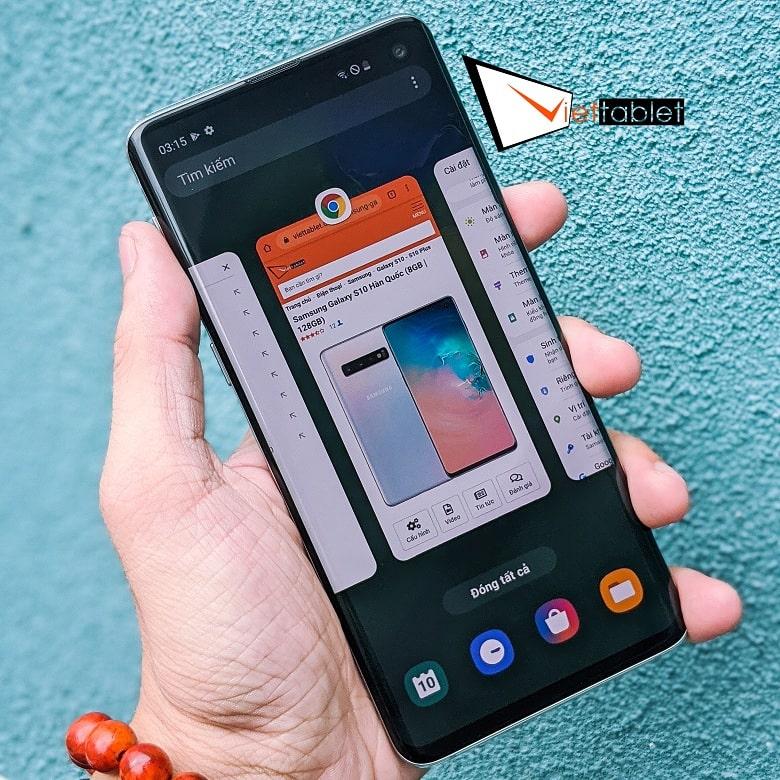 chạy đa nhiệm trên Samsung S10 99% Hàn Quốc
