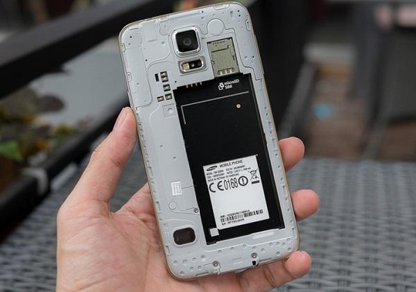 Thời lượng pin của Samsung Galaxy S5 cũ