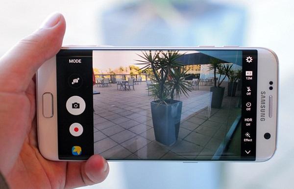 Giao diện chụp ảnh trên Samsung Galaxy S7 Edge cũ like new