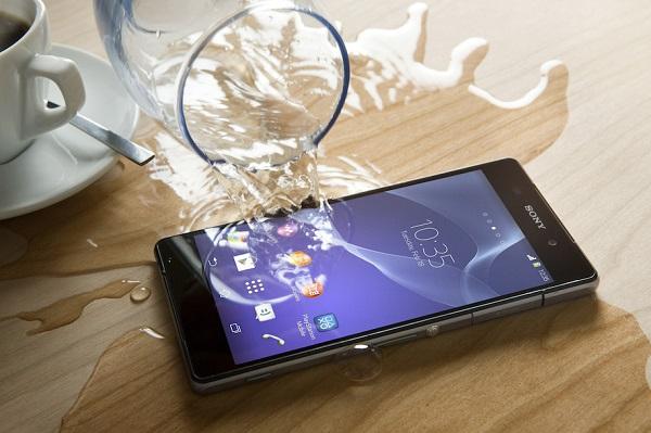 Sony Xperia Z2 cũ có khả năng chống nước đạt chuẩn IP 58