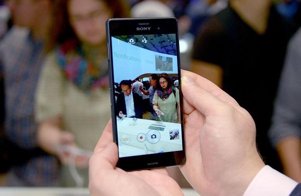 Giao diện chụp ảnh trên Sony Xperia Z3 cũ
