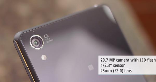 Camera sắc nét của Sony Xperia Z3v