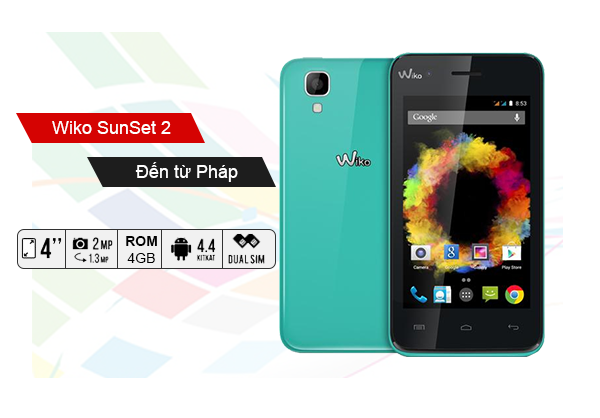 Wiko Sunset 2 có cấu hình ấn tượng so với tầm giá