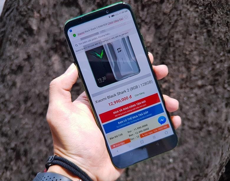 Xiaomi Black Shark 2 cấu hình chip snapdragon mạnh mẽ