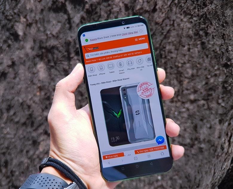 Xiaomi Black Shark 2 cấu hình màn hình tuyệt đẹp