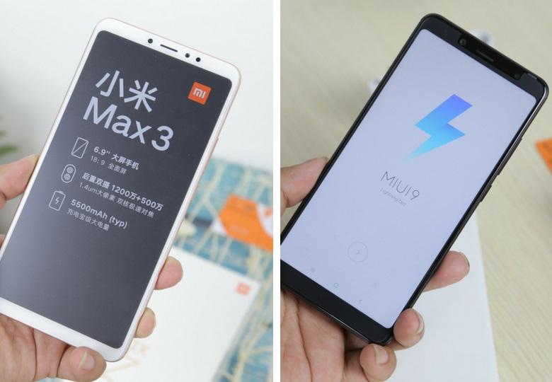 so sánh Xiaomi Mi Max 3 và Redmi Note 5 Pro màn hình
