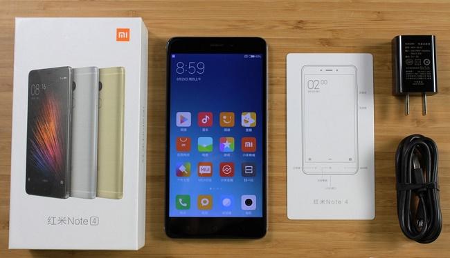 Nguyên hộp Xiaomi Redmi Note 4 chính hãng xách tay
