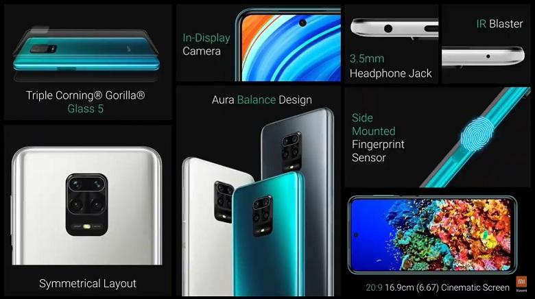 thiết kế Xiaomi Redmi Note 9 Pro Max