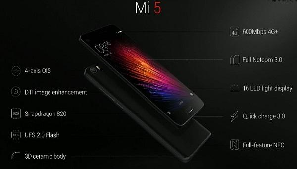 Cấu hình cực khủng của Xiaomi mi5