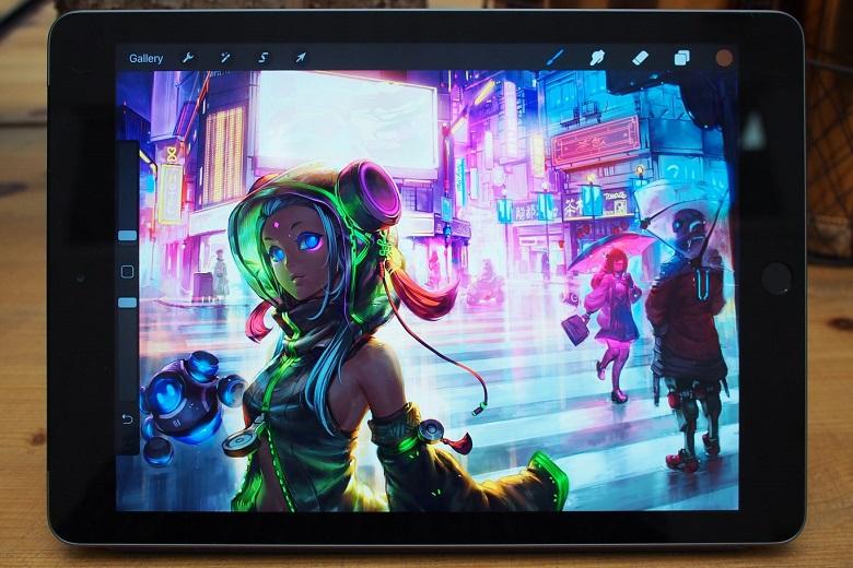 Màn hình iPad 9.7 2018 hiển thị tốt