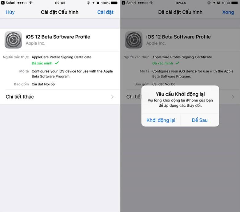 iOS 12 Public beta 2 cập nhật