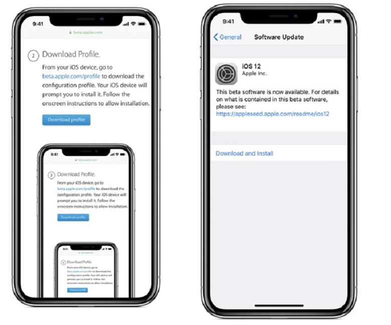 cập nhật iOS 12 Public beta 2