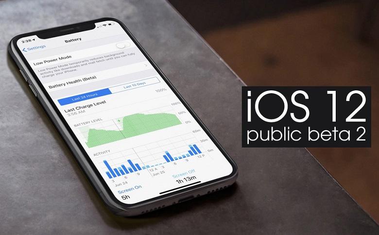 iOS 12 Public beta 2 phát hành bản thử nghiệm