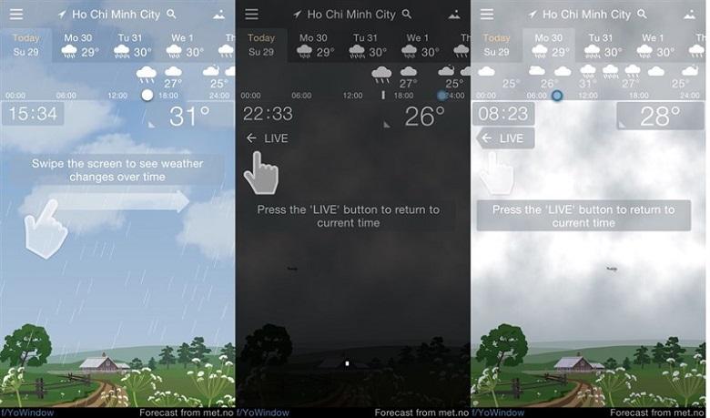 Ứng dụng thời tiết trên iOS miễn phí