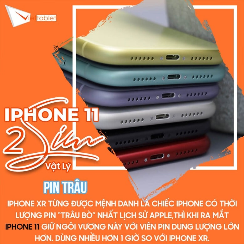 pin iPhone 11 2 SIM
