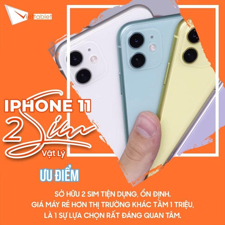 ưu điểm iPhone 11 2 SIM
