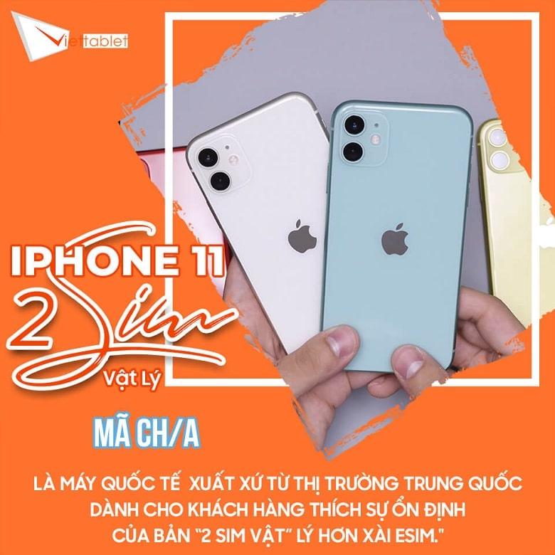 xuất xứ iPhone 11 2 SIM