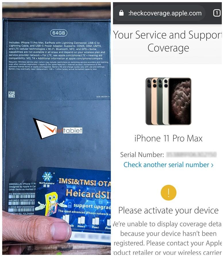 iPhone 11 Pro Max Lock Chưa Active
