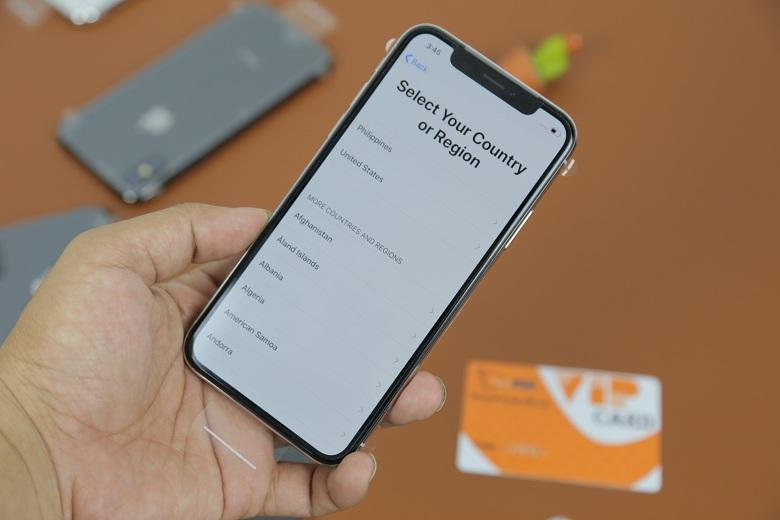 màn hình iPhone X Chưa Active