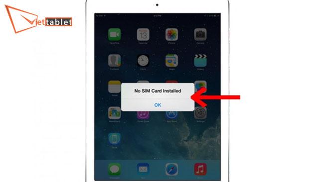 khắc phục lỗi ipad không nhận sim