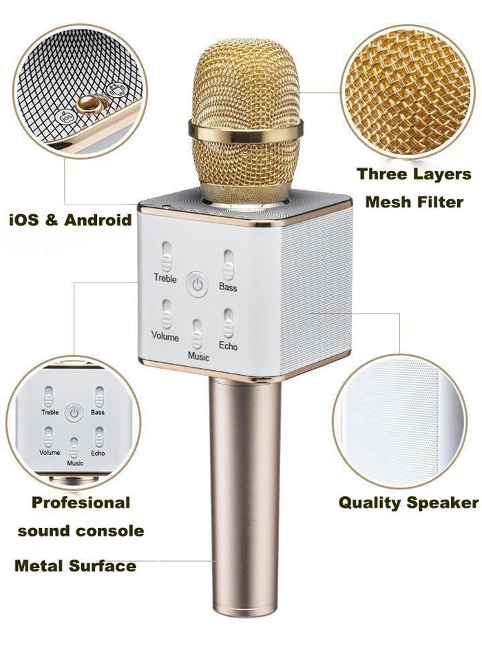 Micro Bluetooth Karaoke Tích Hợp Loa TUXUN Q7