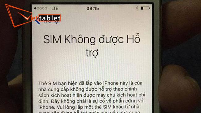 lỗi iphone 8 không nhận sim