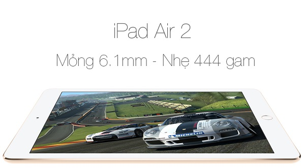 Giải trí đỉnh cao trên iPad Air 2 cũ