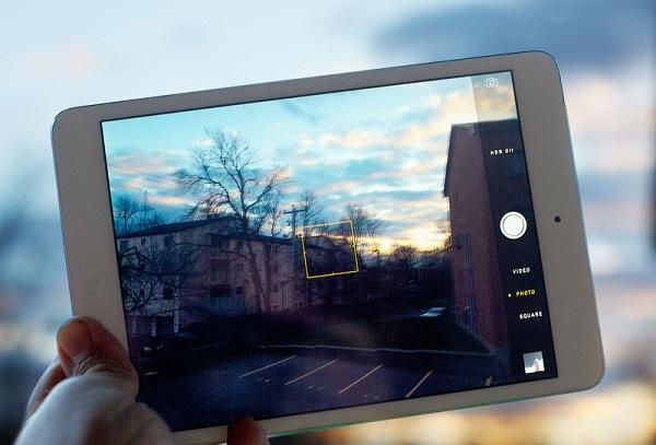 Giao diện chụp ảnh trên iPad Mini 2 Cũ