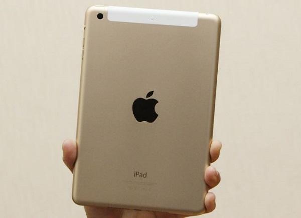iPad mini 3 cũ được bổ sung màu vàng khá sang trọng