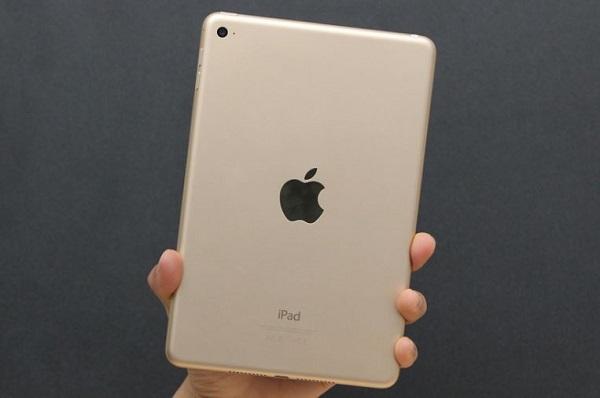 Mặt sau của iPad Mini 4 cũ vẫn là Camera, phía dưới là cổng lightning và loa