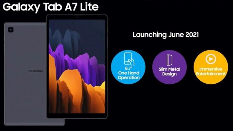 Samsung Galaxy Tab A7 Lite ra mắt, cấu hình giá bán