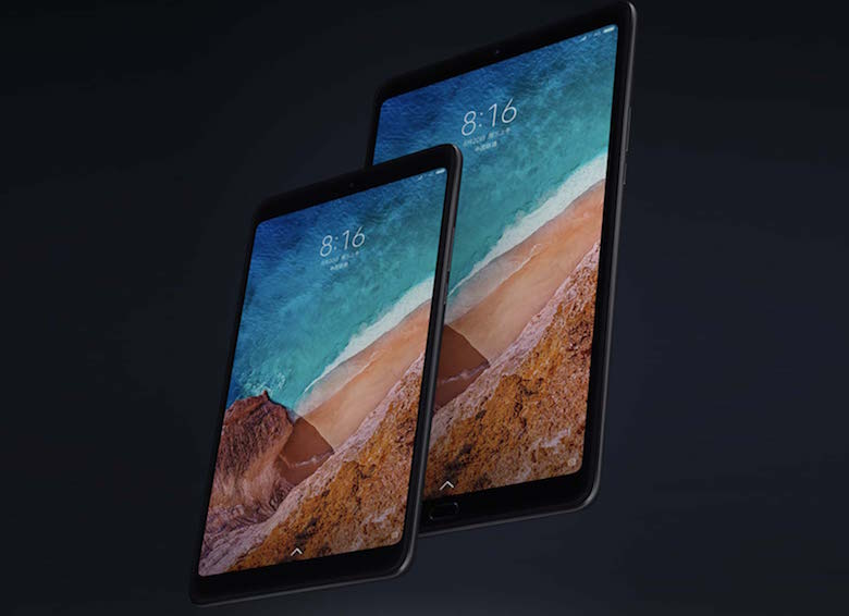 Xiaomi Mi Pad 4 Plus thiết kế mặt trước