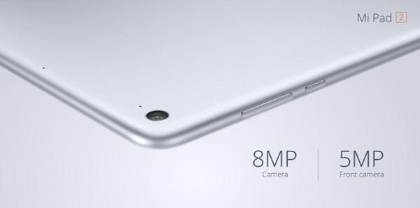 Xiaomi MiPad 2 được trang bị camera chính có độ phân giải 8MP với khẩu độ chuẩn f/2.0, camera trước 5MP với góc rộng hỗ trợ tốt việc chụp ảnh tự sướng.