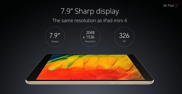 Hình ảnh hiển thị trên Xiaomi MiPad 2 vô cùng sắc nét