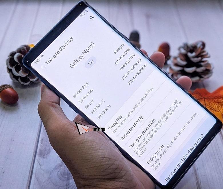 cấu hình Samsung Note 9 Công Ty cũ