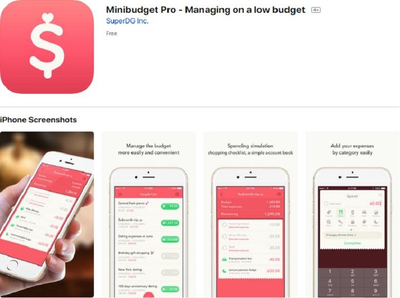 Ứng dụng Minibudget Pro