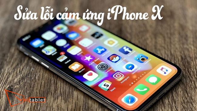 sửa lỗi cảm ứng iphone X