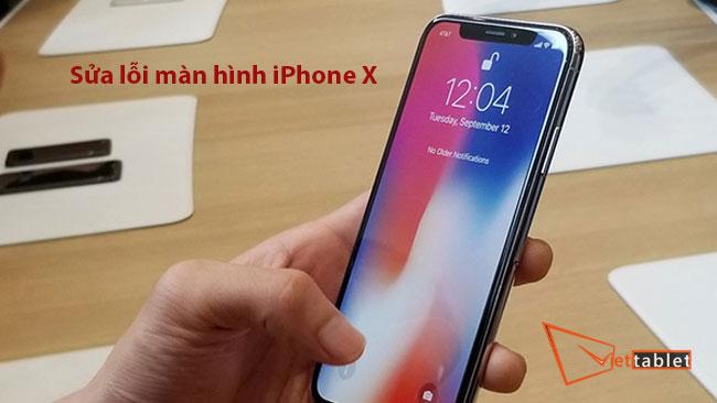 sửa lỗi iPhone X bị sọc màn hình