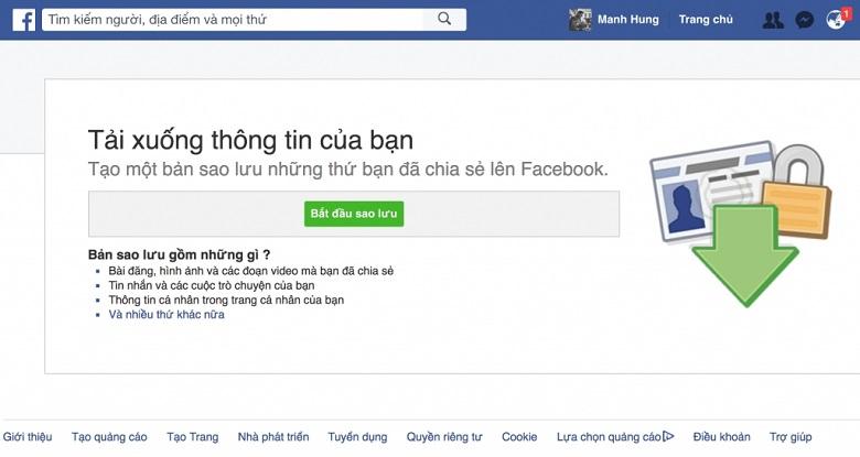 cách phục hồi tin nhắn facebook cách 2 bước 3