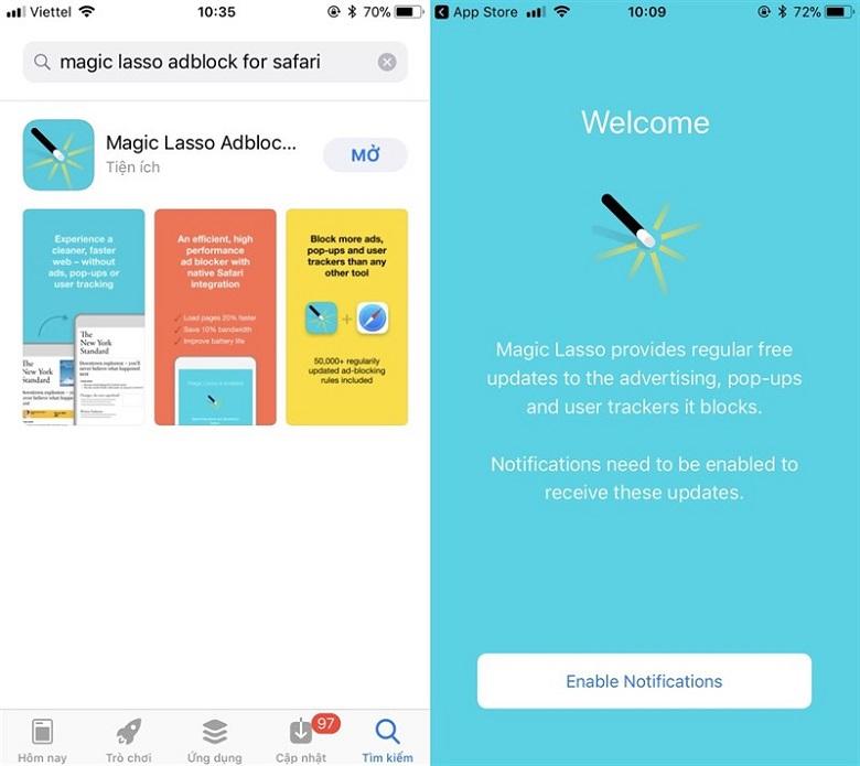 ứng dụng chặn quảng cáo hiệu quả trên Safari mới