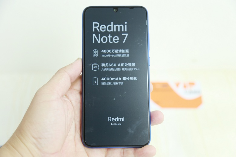 màn hình mặt trước Xiaomi Redmi Note 7